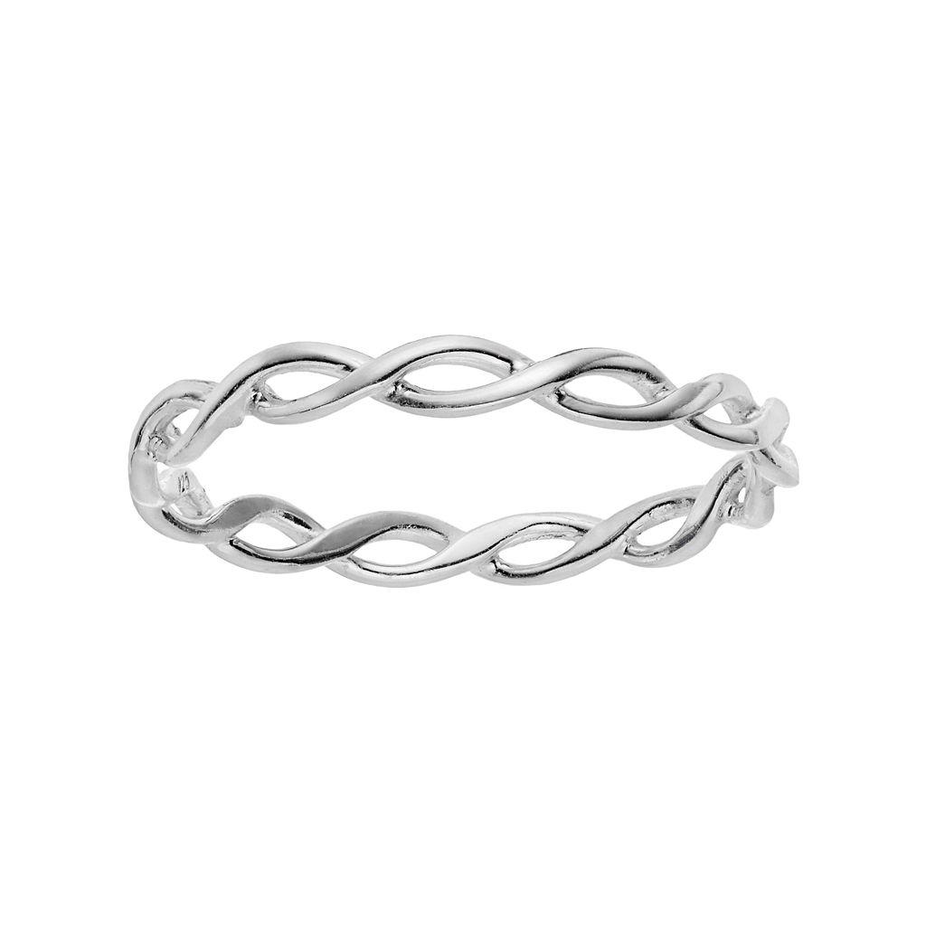 PRIMROSE Sterling Silver Braided Ring