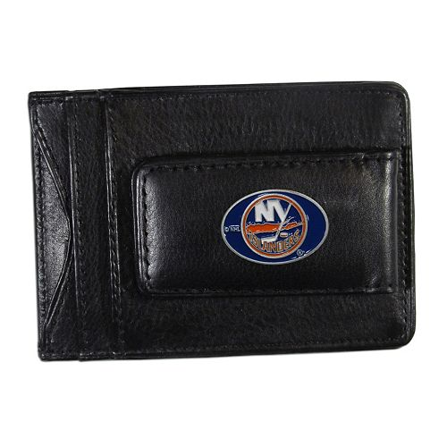 New York Islanders Black Leather Cash & Card Holder