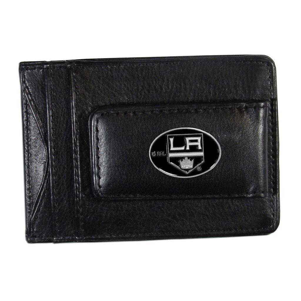 Los Angeles Kings Black Leather Cash & Card Holder