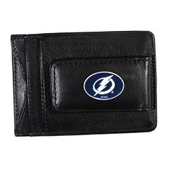 Tampa Bay Lightning Black Leather Cash & Card Holder