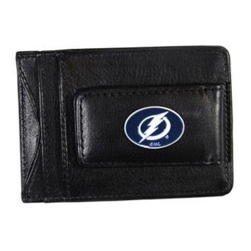 Tampa Bay Lightning Black Leather Cash & Card Holder