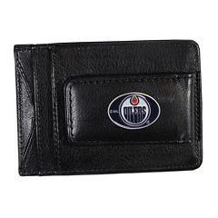 Edmonton Oilers Black Leather Cash & Card Holder