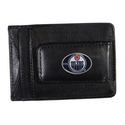 Edmonton Oilers Black Leather Cash & Card Holder