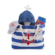Baby Aspen Fun in the Sun 4 pc Nautical Canvas Tote Gift Set