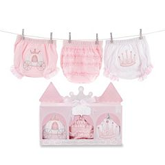 Baby Aspen Her Royal Hineys 3-pk. Princess Bloomers