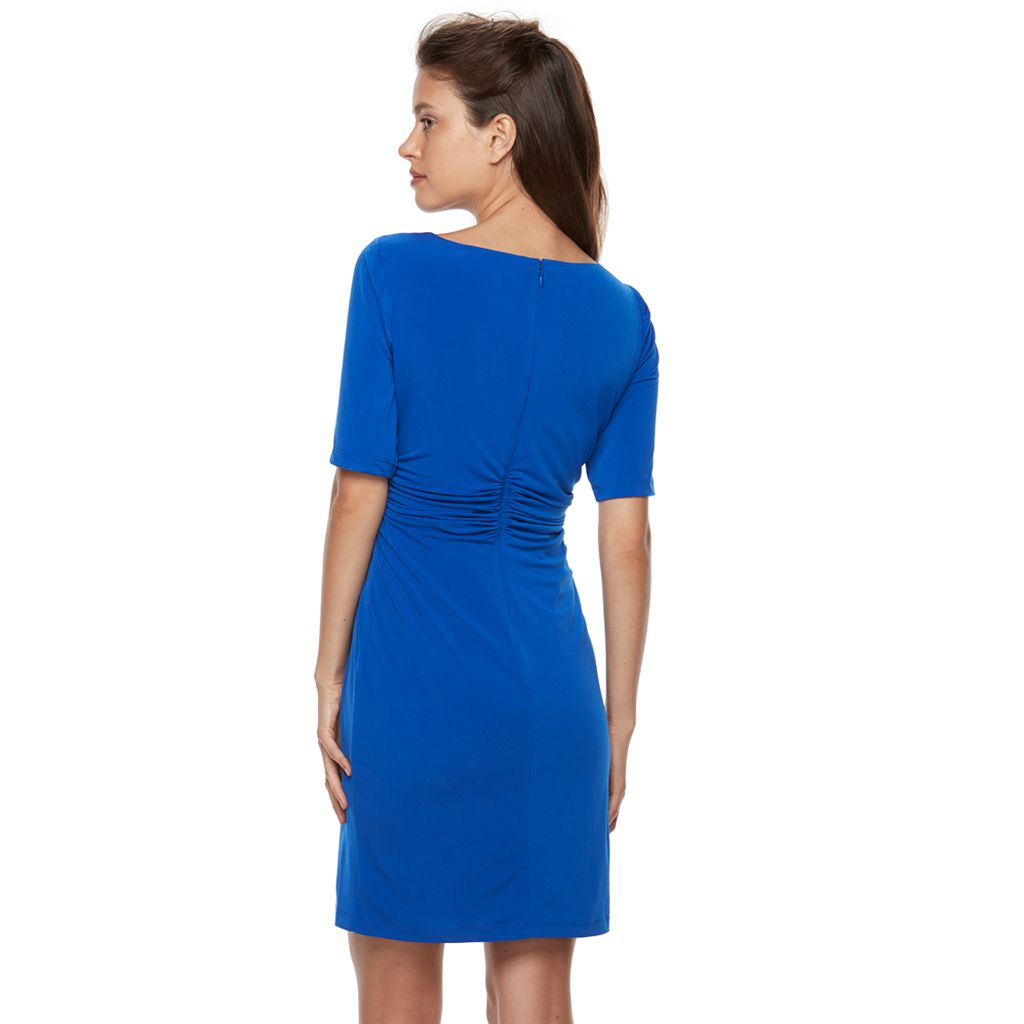 Petite Suite 7 Ruched Sheath Dress