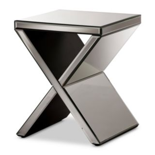 Baxton Studio Morris Mirrored Accent End Table