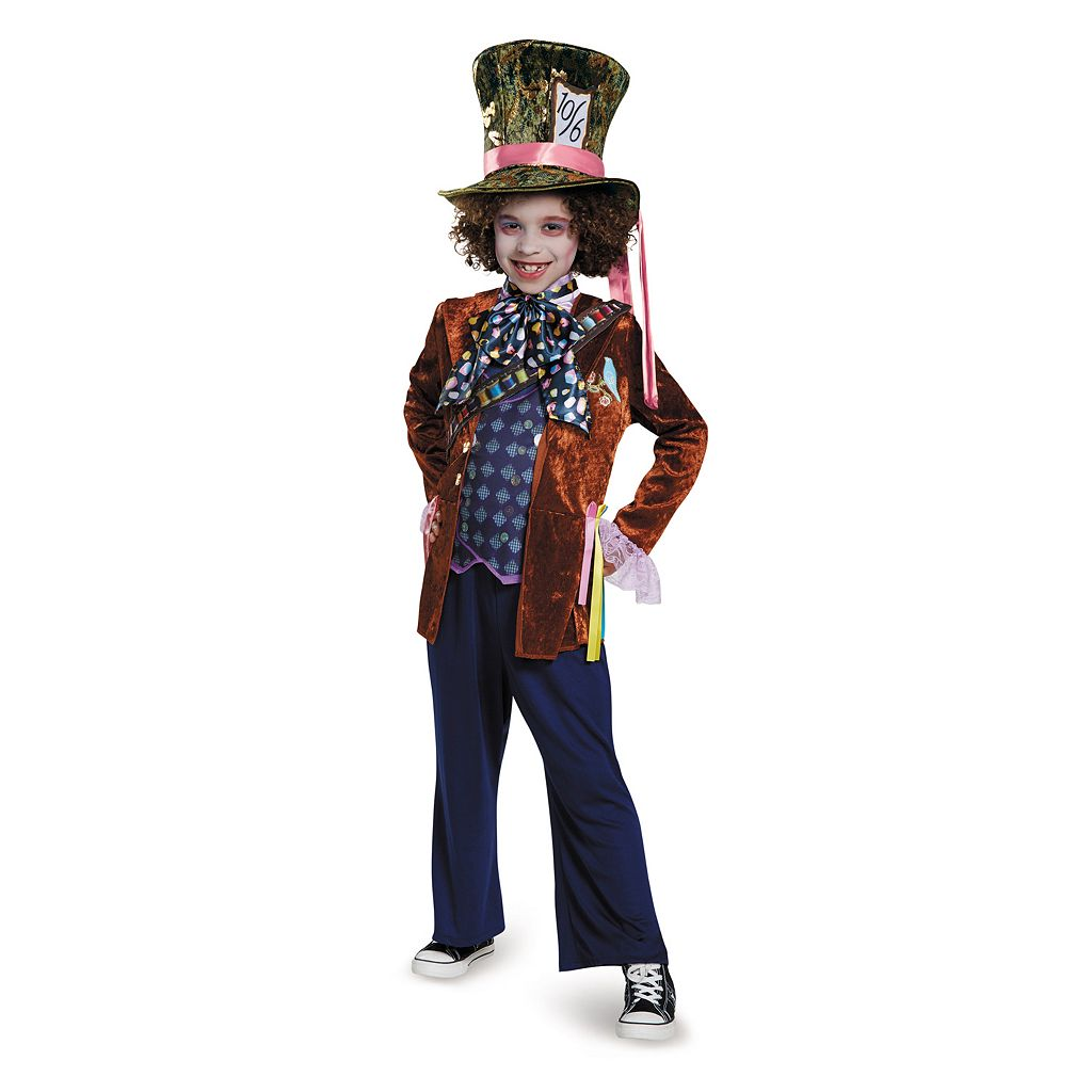 Disney's Alice Through The Looking Glass Kids Deluxe Mad Hatter Costume