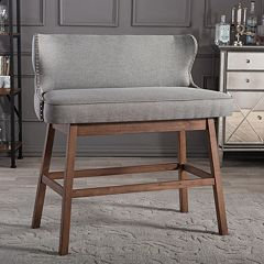 Baxton Studio Gradisca Tufted Bar Bench
