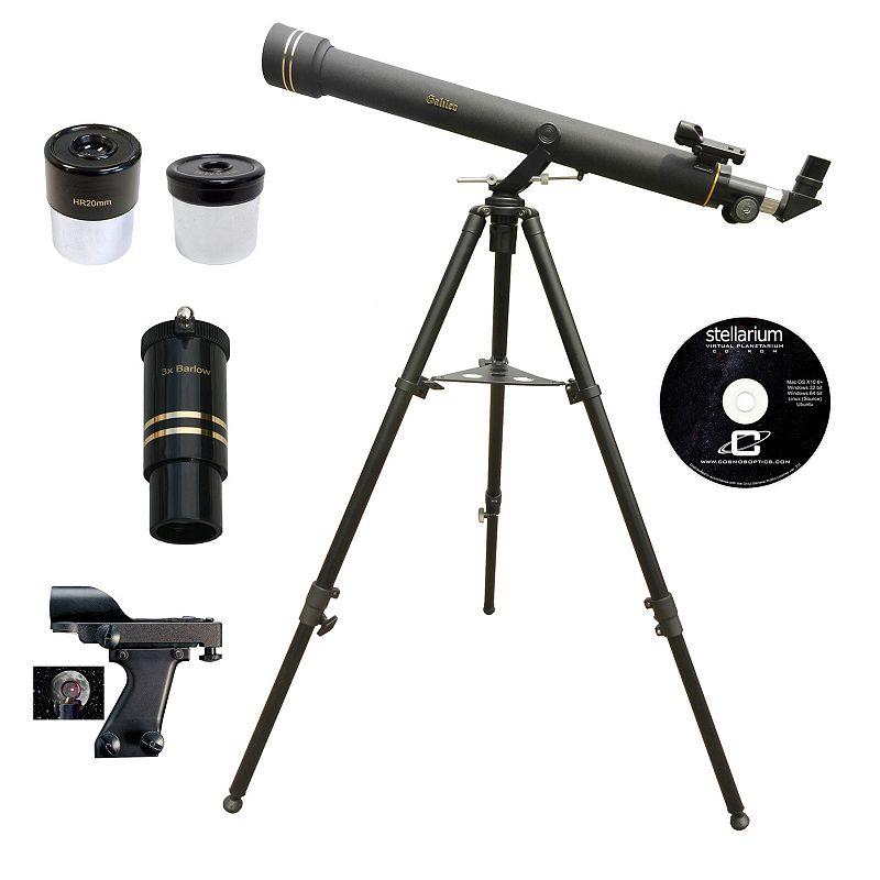 Galileo 800mm x 72mm Refractor Telescope, Black