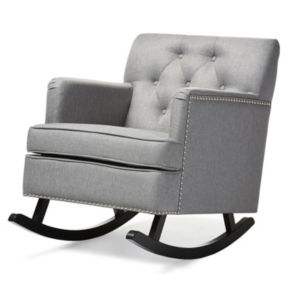 Baxton Studio Bethany Tufted Rocking Chair