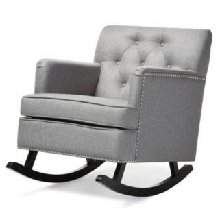 Baxton Studio Bethany Tufted Rocking Chair