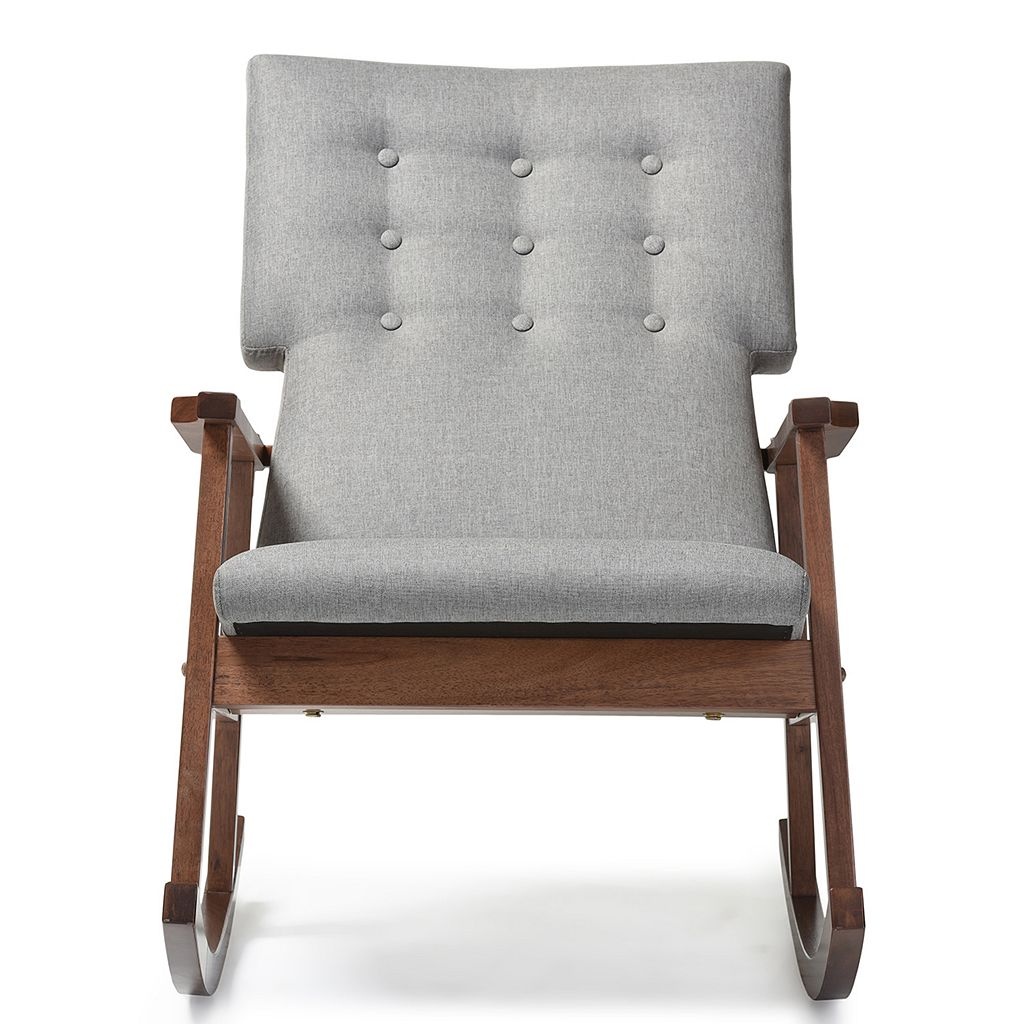 Baxton Studio Agatha Mid-Century Modern Rocking Chair