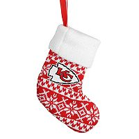 Forever Collectibles Kansas City Chiefs Knit Stocking Christmas Ornament