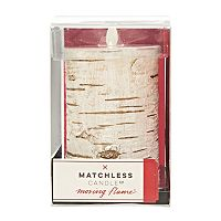 Matchless Candle Co. Moving Flame® 3.25'' x 6'' Faux Birch Flameless LED Candle