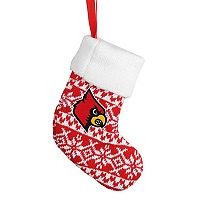 Forever Collectibles Louisville Cardinals Knit Stocking Christmas Ornament