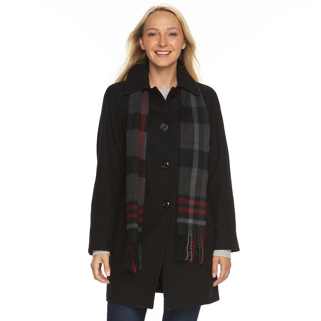 Women's Towne by London Fog Wool Blend Coat