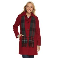 Womens Red Peacoat Coats &amp Jackets - Outerwear Clothing | Kohl&39s