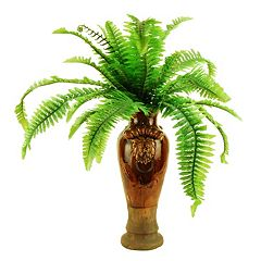 Designs by Lauren Artificial Fern Plant & Ceramic Planter