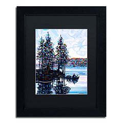 Trademark Fine Art Haliburton Morning Black Framed Wall Art