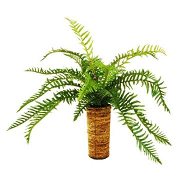 Designs by Lauren Artificial Fern Plant & Jute Planter