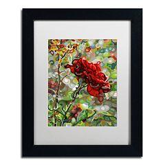 Trademark Fine Art Mandy Budan 'Last Rose Of Summer' Matted Framed Wall Art