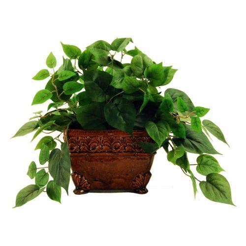 Designs by Lauren Artificial Ivy Plant & Ceramic Planter