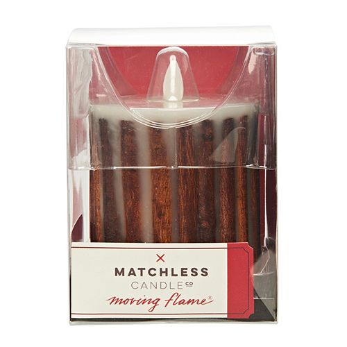 Matchless Candle Co. Moving Flame® 3.5'' x 4.5'' Cinnamon Stick Flameless LED Candle