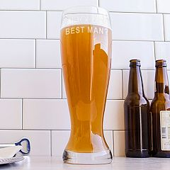 Cathy's Concepts 54-oz. 'Will You Be My Best Man?' XL Pilsner Glass