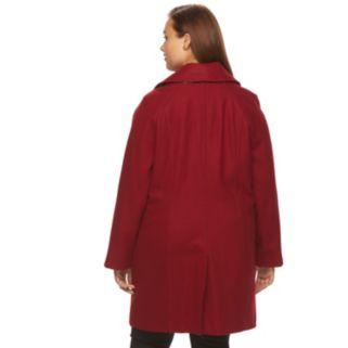Plus Size Towne by London Fog Wool-Blend Coat
