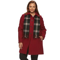 Plus Size Towne by London Fog Wool-Blend Coat