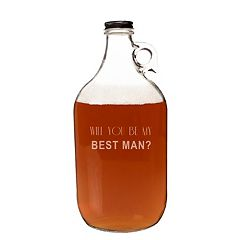 Cathy's Concepts 'Will You Be My Best Man?' 64-oz. Craft Beer Growler