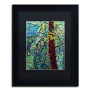 "Trademark Fine Art Mandy Budan ""Pine Sprites"" Matted Framed Wall Art"