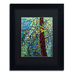 Trademark Fine Art Mandy Budan 'Pine Sprites' Matted Framed Wall Art