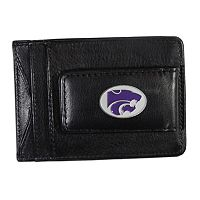 Kansas State Wildcats Black Leather Cash & Card Holder