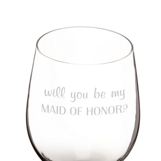 "Cathy's Concepts 25-oz. ""Will You Be My Maid of Honor?"" XL Wine Glass"