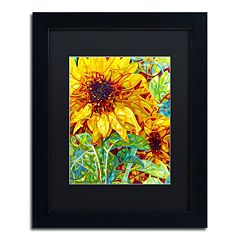 Trademark Fine Art Mandy Budan 'Summer In The Garden' Matted Framed Wall Art