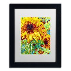 Trademark Fine Art Mandy Budan 'Summer In The Garden' Matted Framed Wall Art