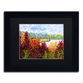 """Trademark Fine Art Mandy Budan """"Summers End"""" Matted Framed Wall Art"""