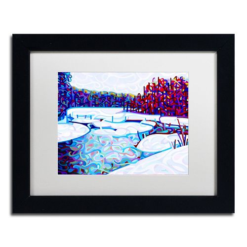 "Trademark Fine Art Mandy Budan ""Thaw"" Matted Framed Wall Art"