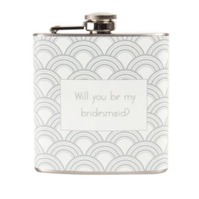 "Cathy's Concepts 6-oz. ""Will You Be My Bridesmaid?"" Flask"