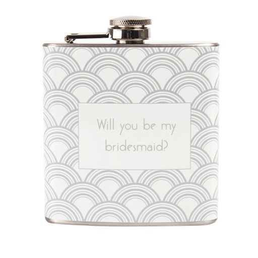 """Cathy's Concepts 6-oz. """"Will You Be My Bridesmaid?"""" Flask"""