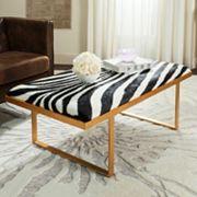 Safavieh Millie Faux Zebra Loft Bench