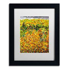 Trademark Fine Art Mandy Budan 'Towards Autumn' Matted Framed Wall Art
