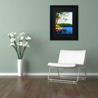 """Trademark Fine Art Mandy Budan """"View From Mazengah"""" Matted Framed Wall Art"""