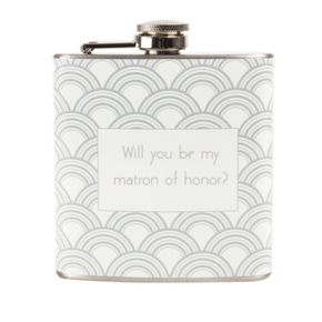 """Cathy's Concepts 6-oz. """"Will You Be My Matron of Honor?"""" Flask"""