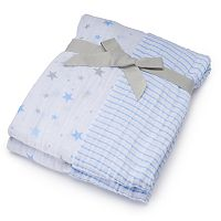 Baby Boy Just Born 2-pk. Print Muslin Blankets