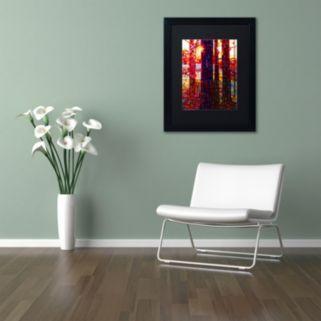 Trademark Fine Art Carnelian Morning Matted Black Framed Wall Art