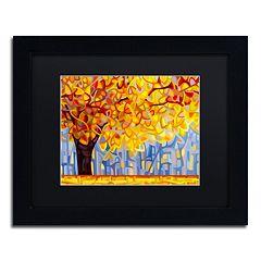 Trademark Fine Art 'October Gold' Matted Black Framed Wall Art
