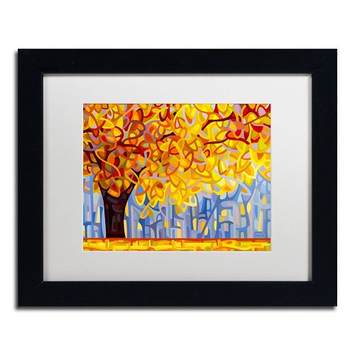 "Trademark Fine Art ""October Gold"" Matted Black Framed Wall Art"